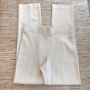 PREMISE Pants Leggings High Rise Cream Rayon Soft